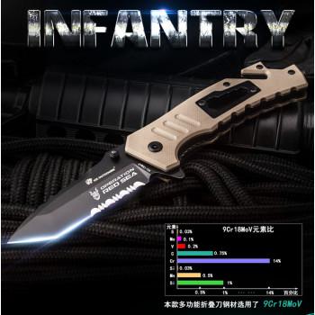 Нож HX Outdoors ZD-016C Red Sea 9CR18MOV