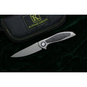 Нож Kanedelia Neon Zero Flipper TC4+Carbon M390