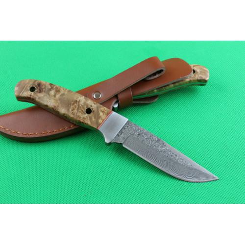 Нож Little shadow Damascus