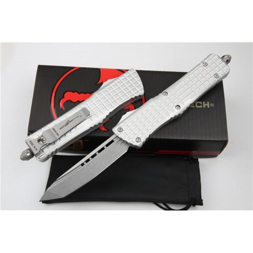Нож Microtech Combat Troodon Tanto Signature Series Stonewash Silver D2